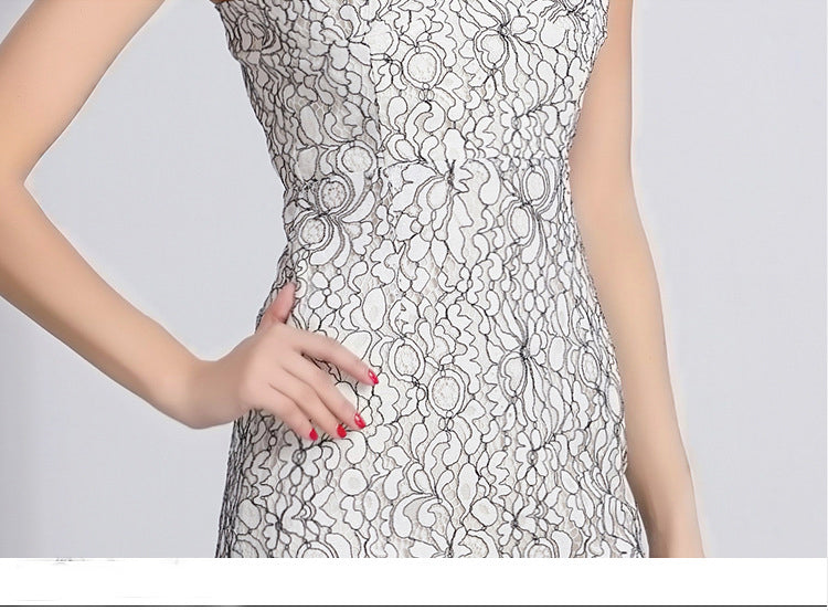 Women's Fashion Sling Lace Floral Dress