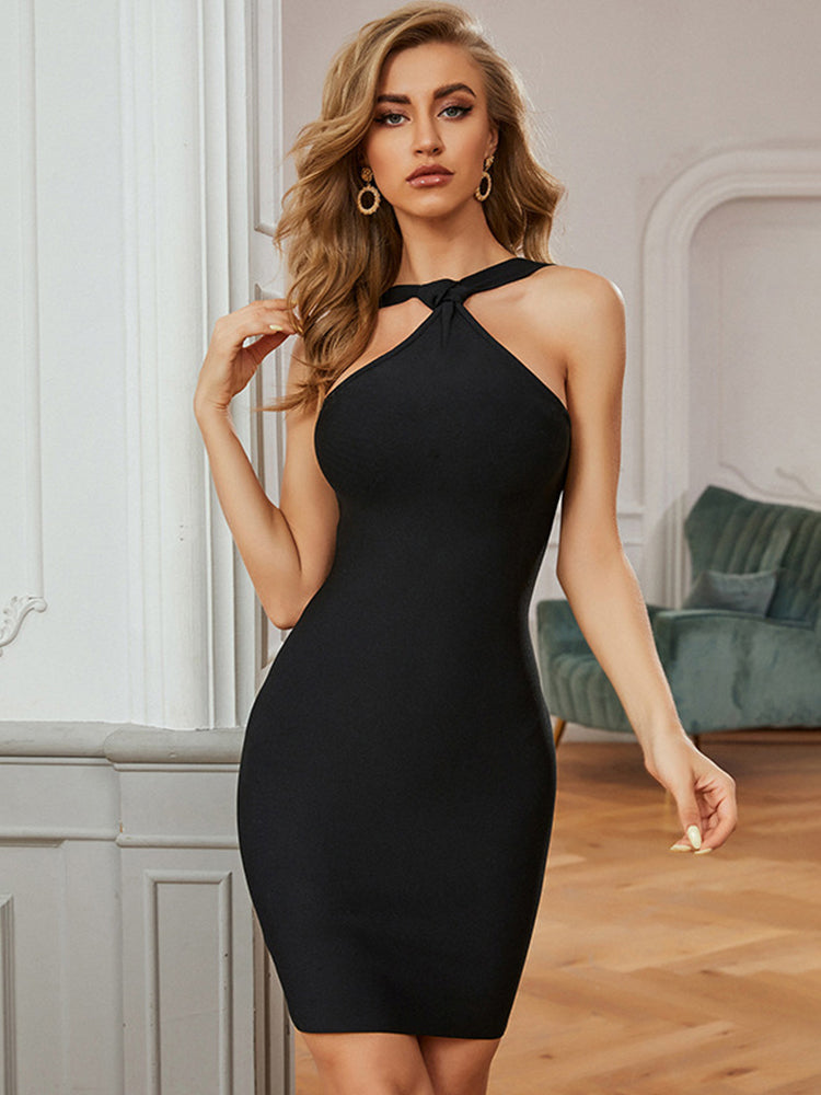 Black Elegant Bandage Dress for Party
