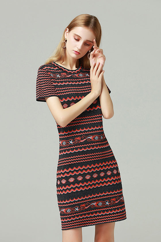 Jacquard Multi Color Fashion Dress