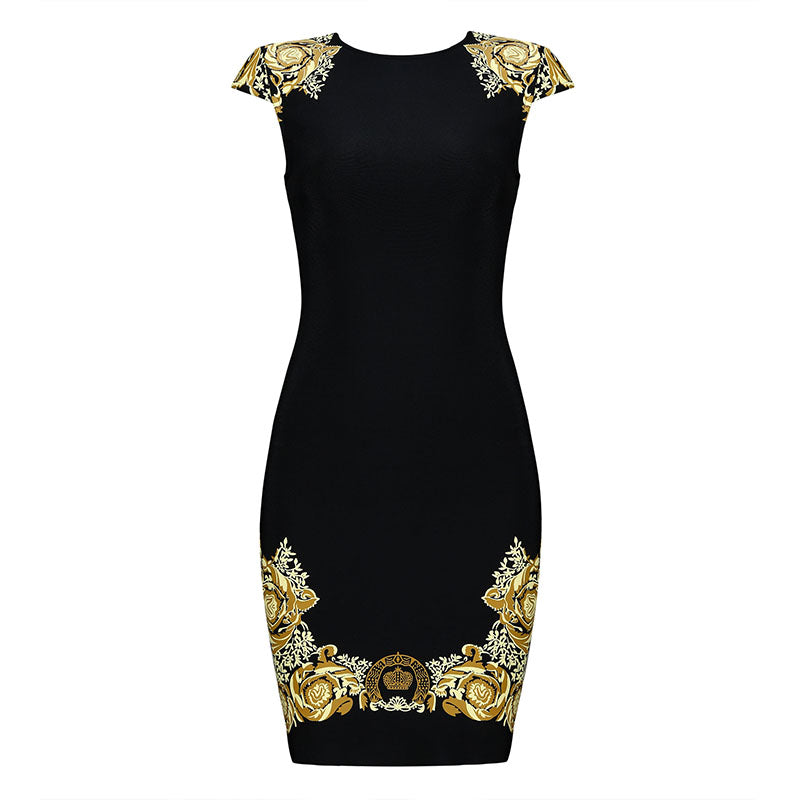 Sleeveless Black Bodycon Mini Dress