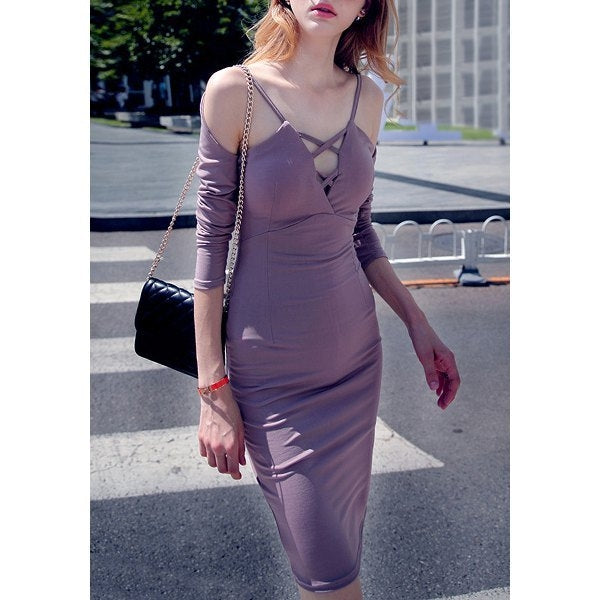 Long Sleeves Bodycon Dress for Party