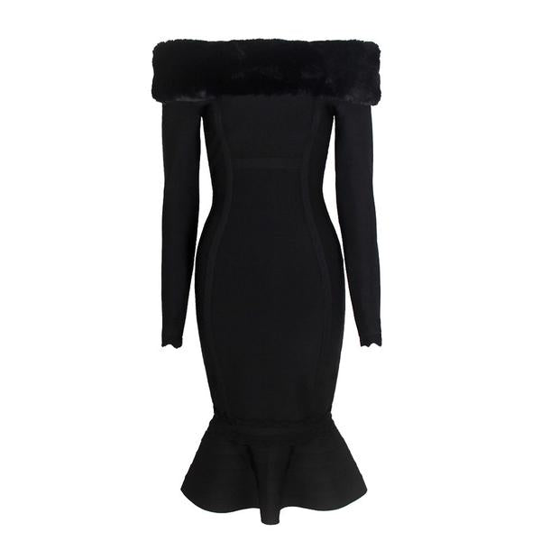Black Fur Dress