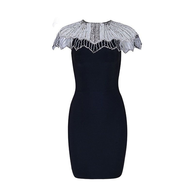 Celebrity Vestidos Sexy Beads Embellished Dress