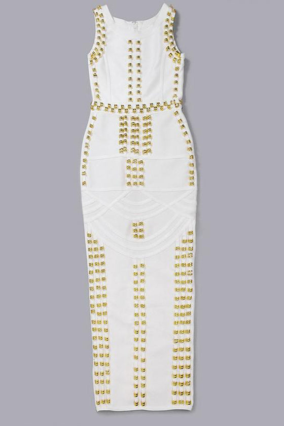 Luxurious Gold Coins Long Dress