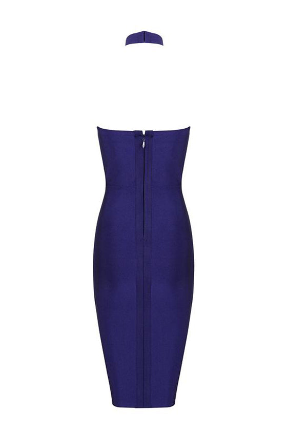 Halter Royal Blue Bandage Dress