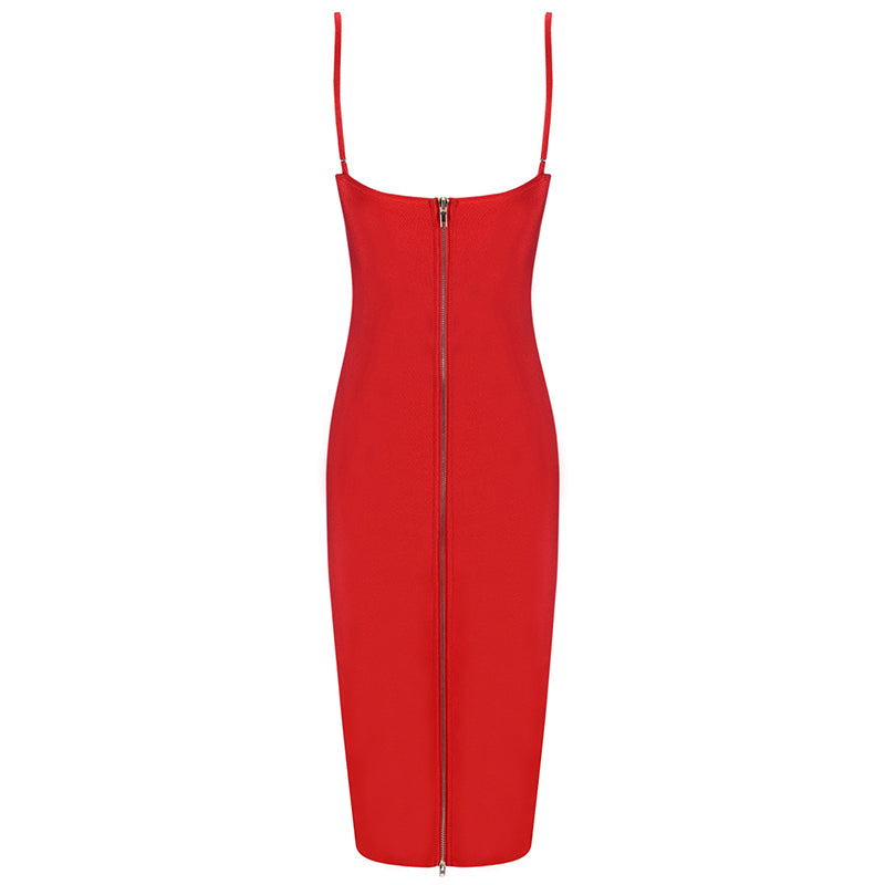 Red Bodycon Bandage Dress for Going Out