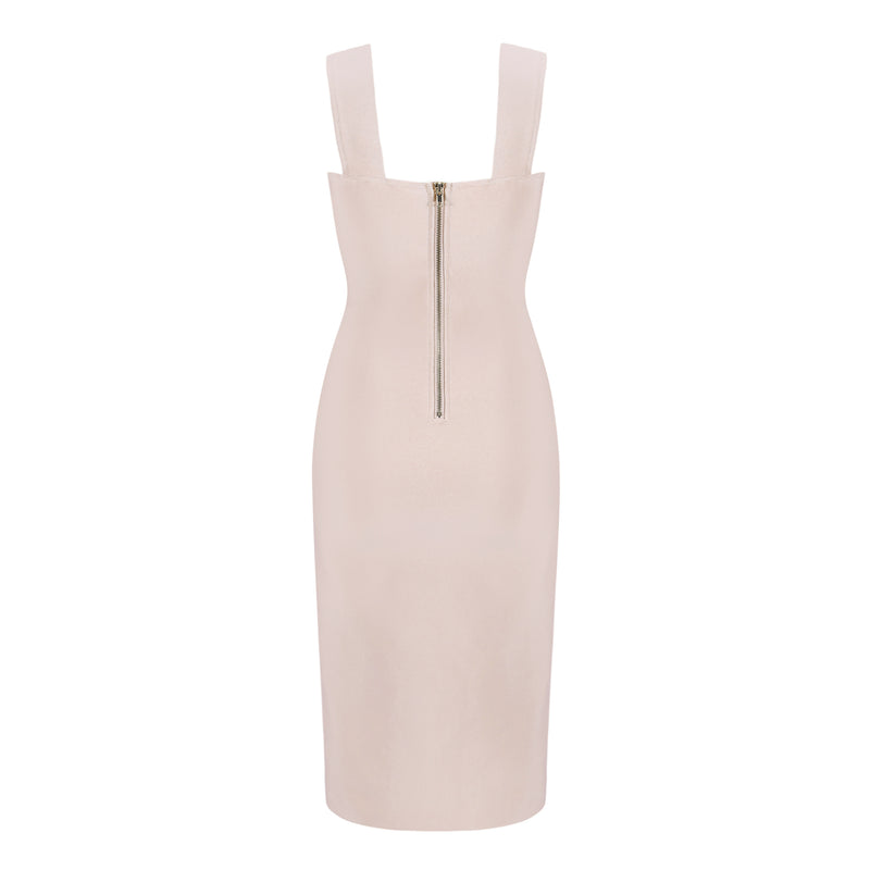 Halter Hollow Nude  Women's Dress