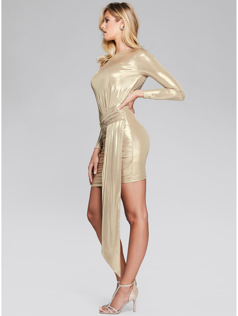 Sexy Gold streamer Dress
