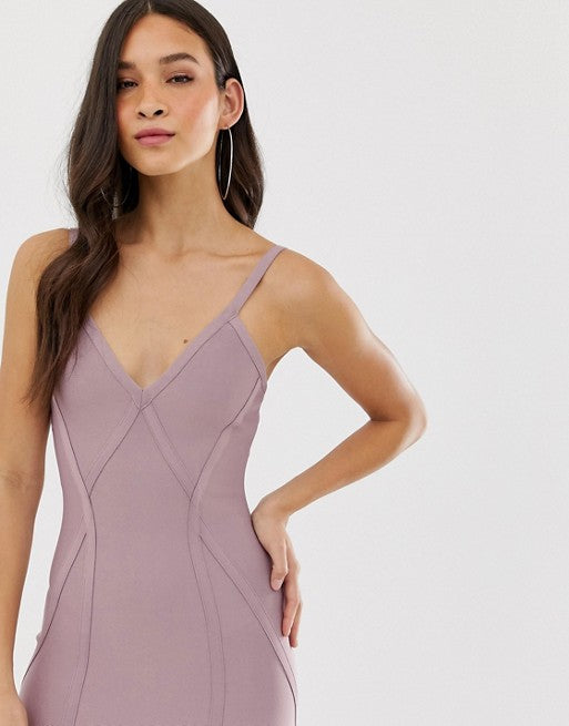 Bandage Dress Sexy Club Knee Length