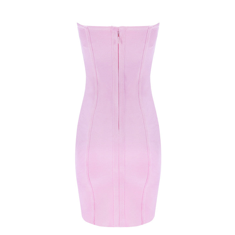 Pink Strapless Party Dress