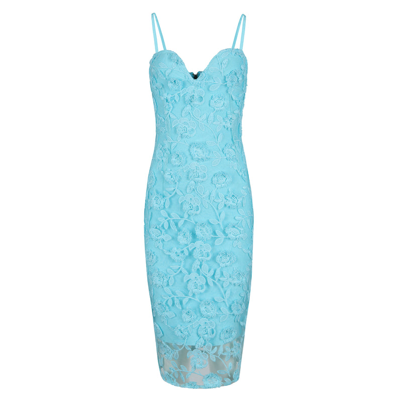 Flower Lace Bodycon Bandage Dress