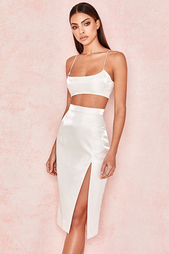 Two Pieces Side Split Dress
