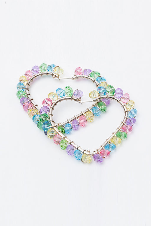 Shine Stone Heart Earrings