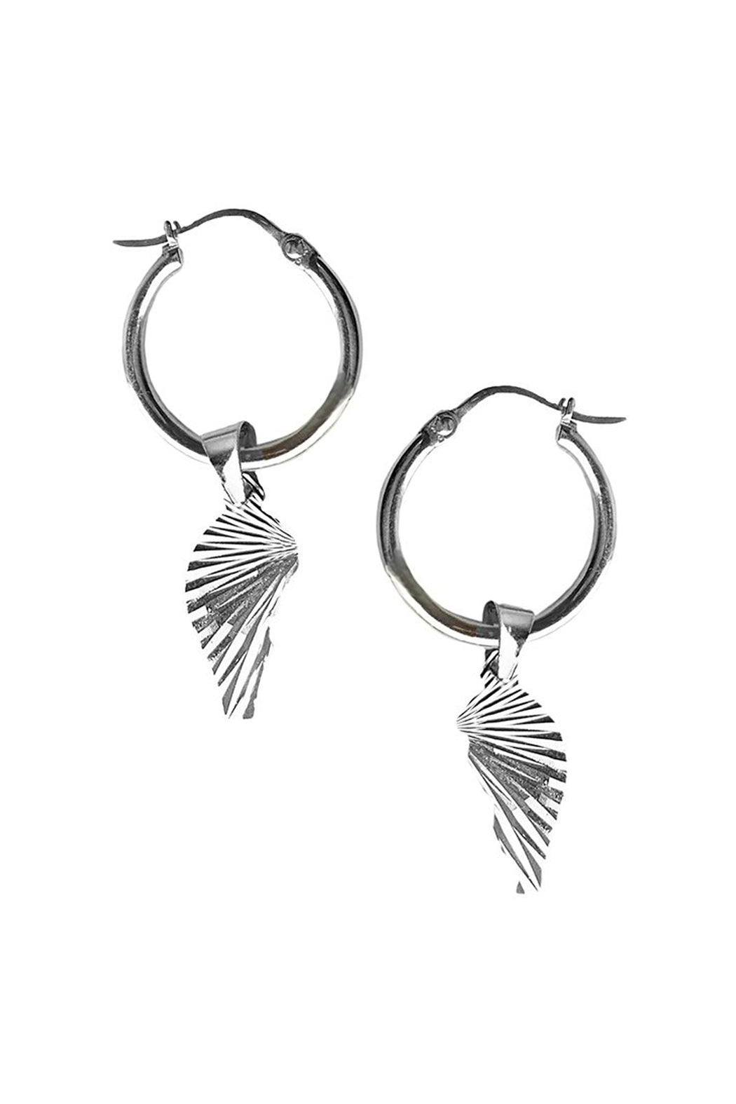 Come Undone Charm Hoop Earrings