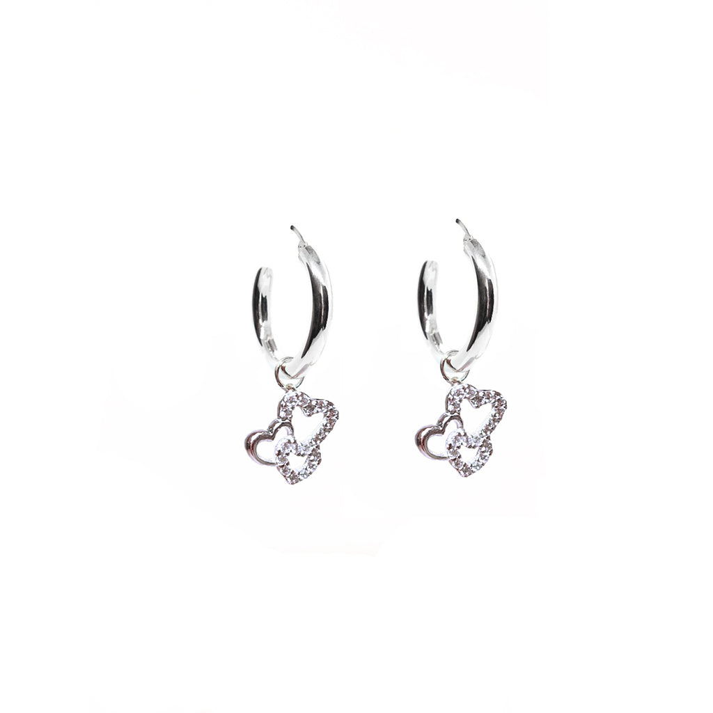 DANGLY HEART CHARM EARRING