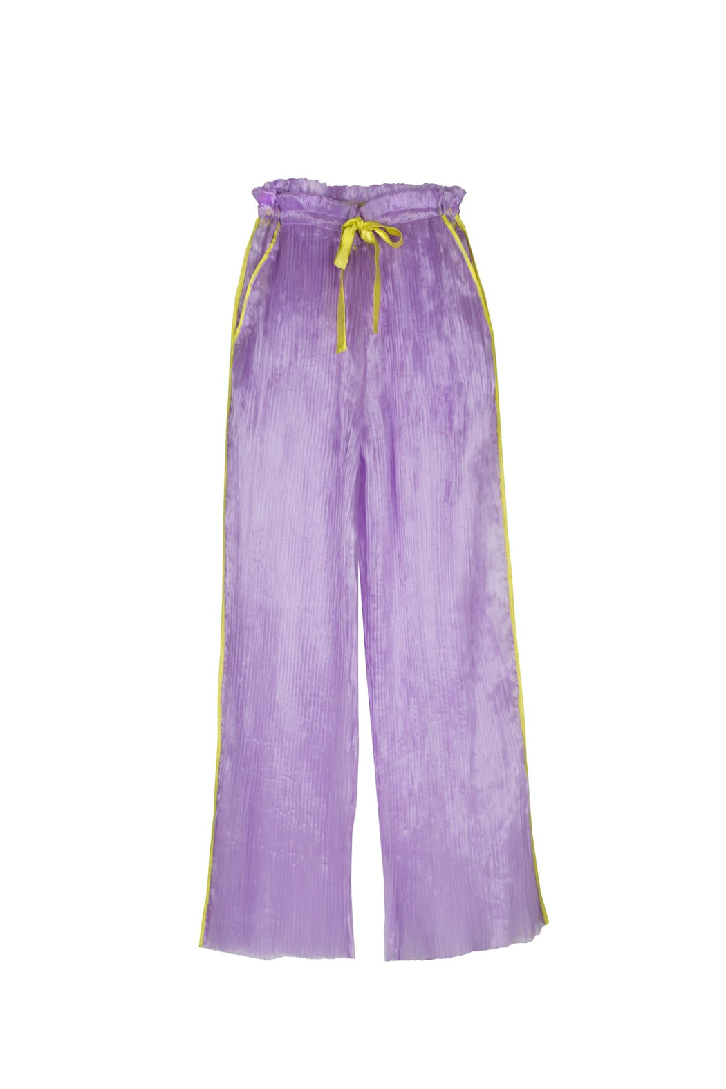 Purple Pleated Trousers