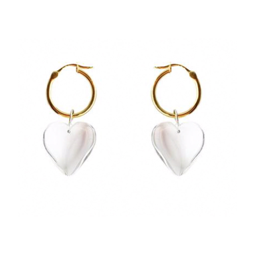Full Heart Charm Resin Earrings