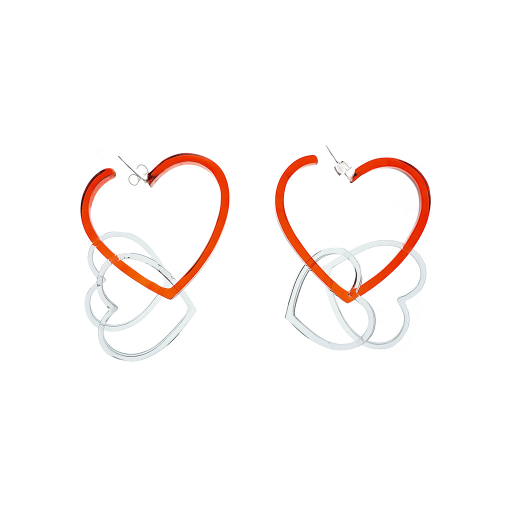 Resin Heart Hoops