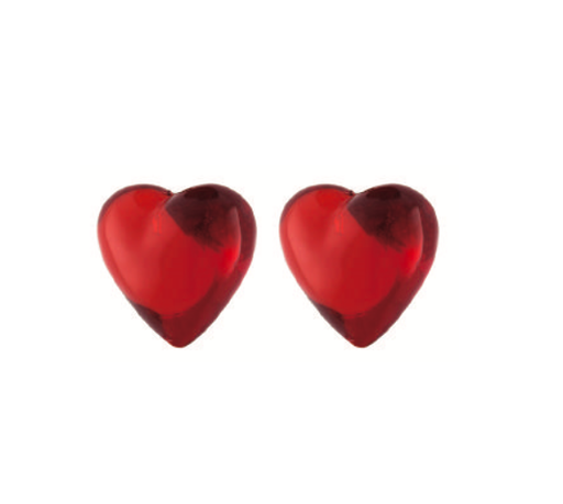 Resin Heart Stud Earrings