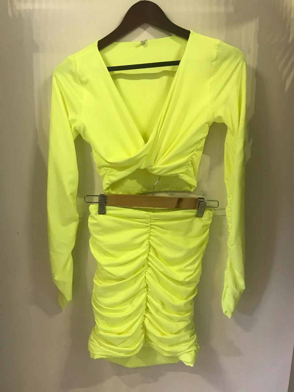 NEON LONG SLEEVE WITH SKIRT