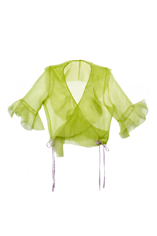 Wrap Around Top Green - TUZA Jewelry