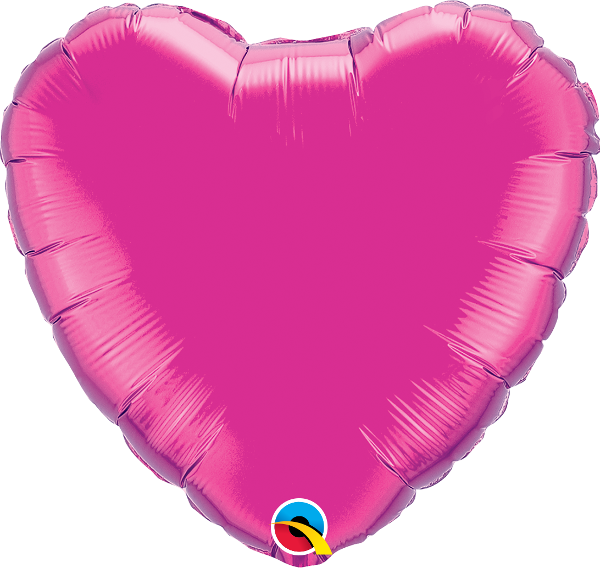 Magenta Heart Balloon | 18""