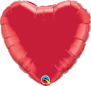 Red Heart Balloon | 18""