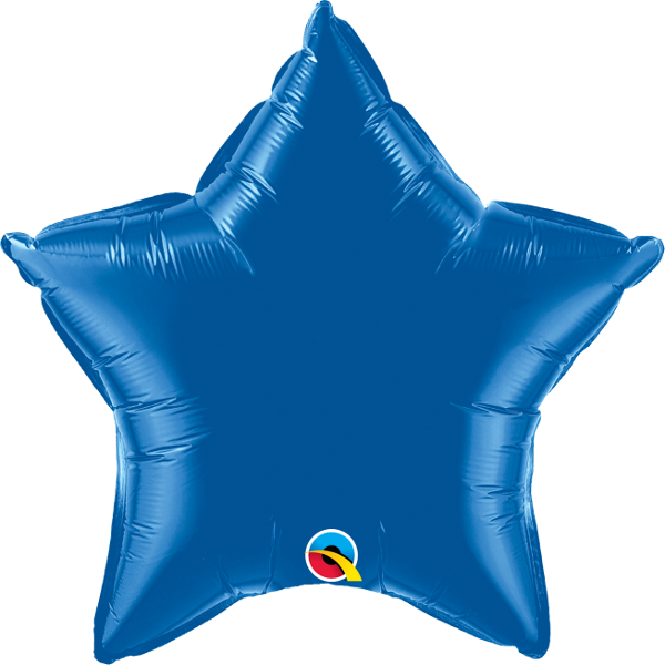 Dark Blue Star Balloon | 18""
