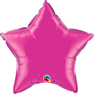 Magenta Star Balloon | 18""