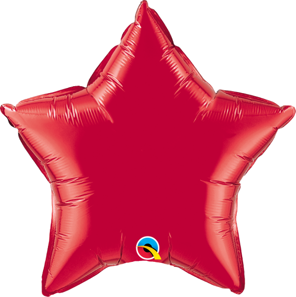 Red Gold Star Balloon | 18""