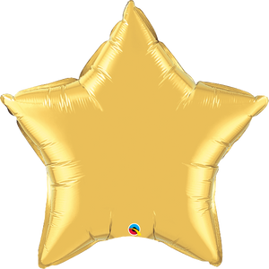 Gold Star Balloon w/ Paper Tassels | 36""