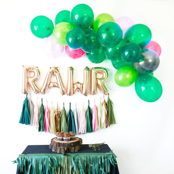 Pink Rawr Balloon Party Box