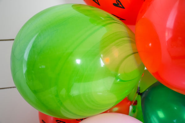 DIY Watermelon Balloon Garland (Red)