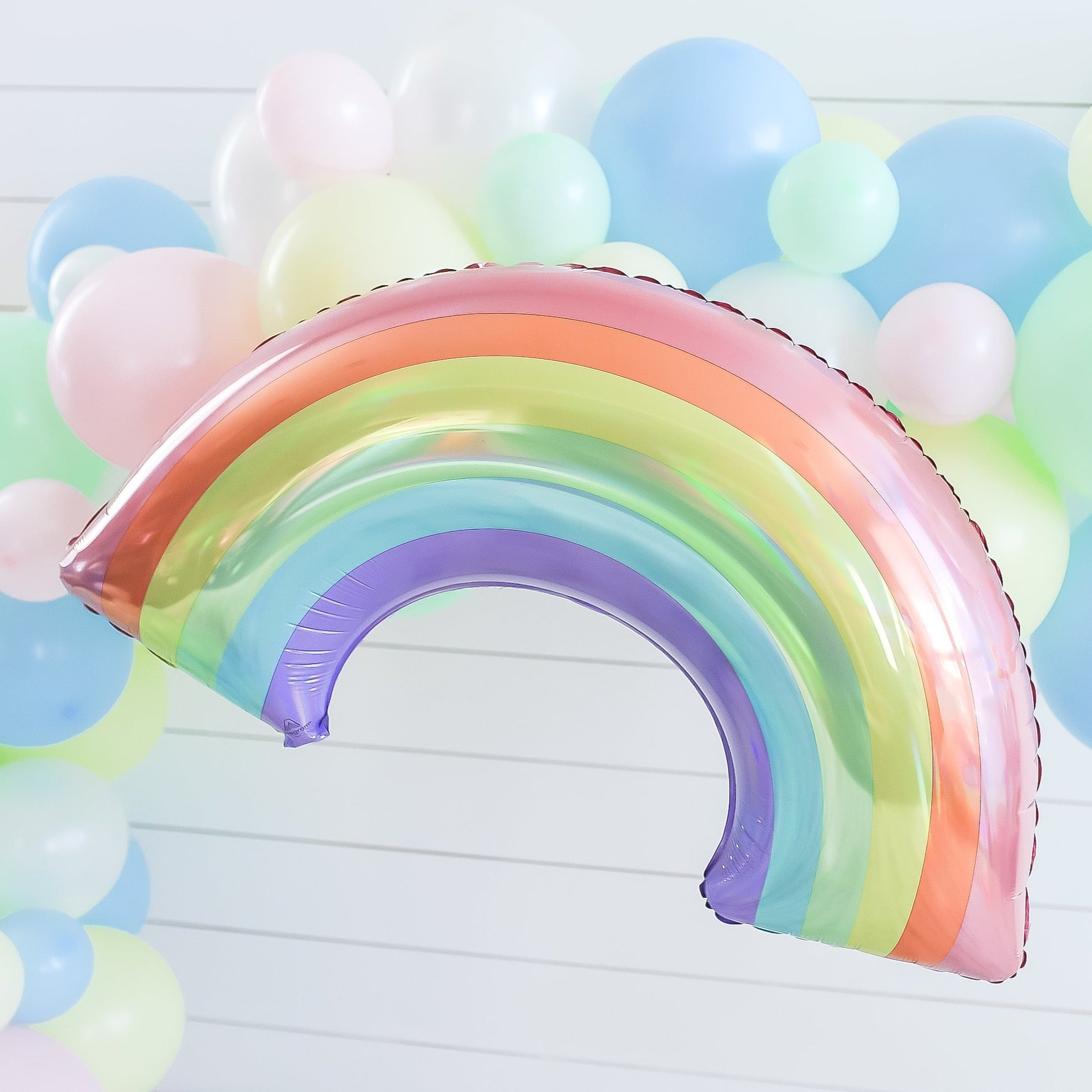 Iridescent Pastel Rainbow Balloon