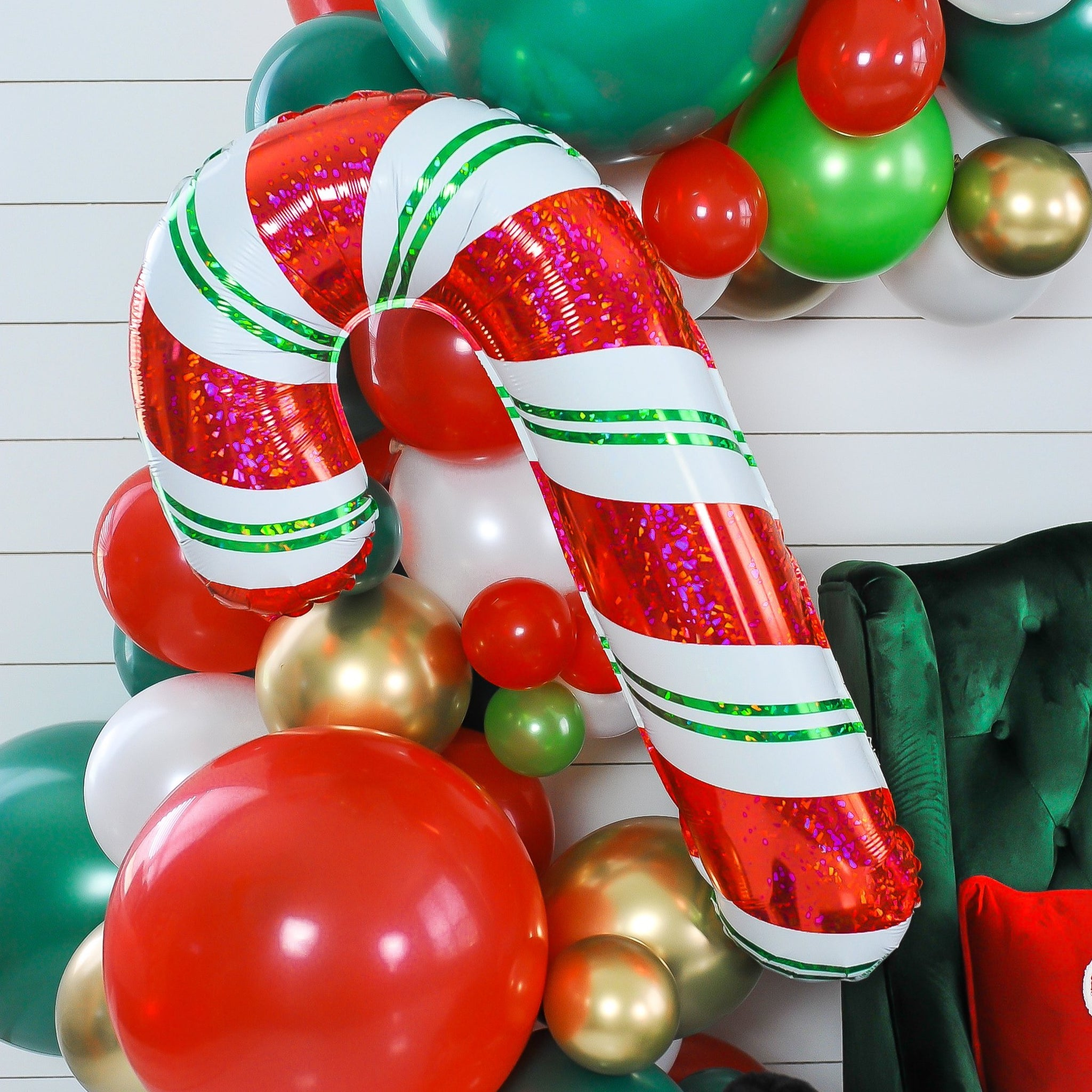 Holographic Candy Cane Balloon
