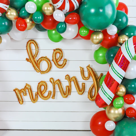 Be Merry Balloon Banner