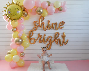 Shine Bright Balloon Banner