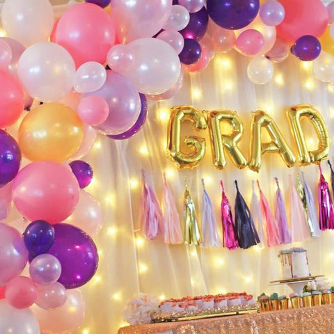 DIY Pink & Purple Balloon Garland