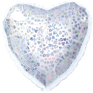 Iridescent Hearts Balloon | 18""