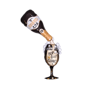Pop Fizz Clink Champagne Balloon