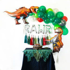 Silver Rawr Balloon Party Box