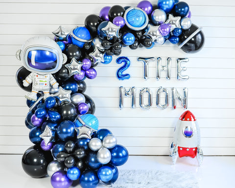 DIY Two the Moon Balloon Garland