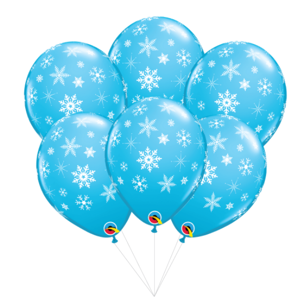 Blue Snowflake Balloon Bouquet