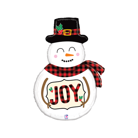 Buffalo Plaid Snowman Balloon