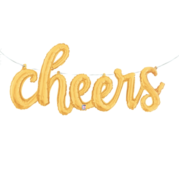 Cheers Script Balloon Banner