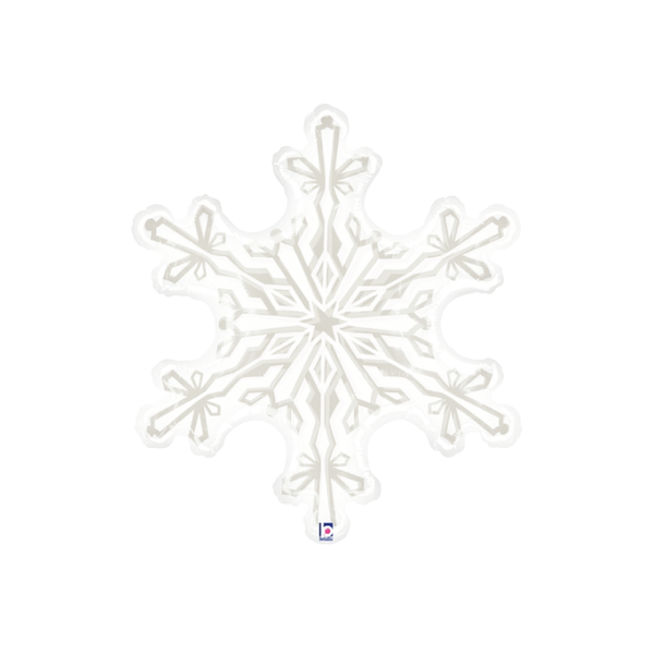 Clear Snowflake Balloon