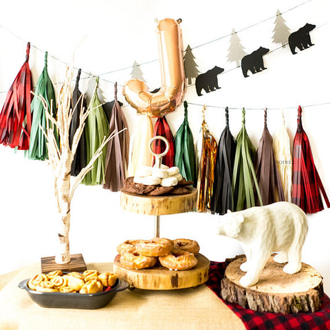 Woodland Balloon Tassel Garland Party Box