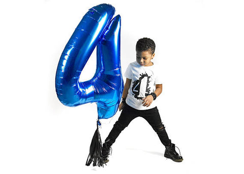 Jumbo Blue Number Balloon | 34""