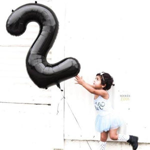 Jumbo Black Number Balloon | 34""