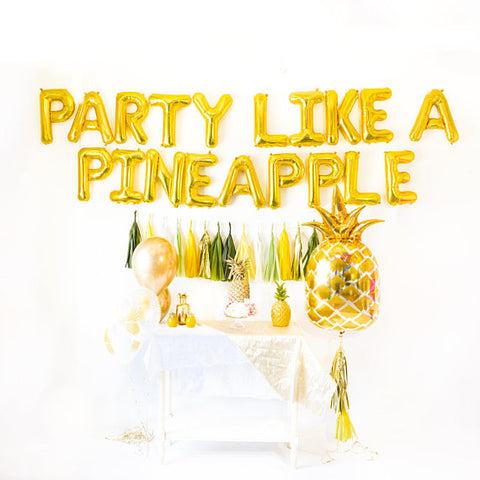 Party Like a Pineapple Balloon Tassel Party Box